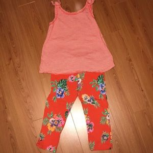 Matching top with floral leggings